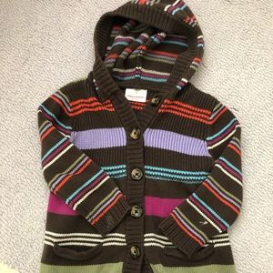 Girls Hanna Andersson Hooded Sweater Jacket